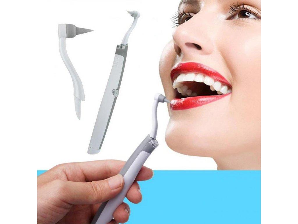 cisteni zubu beleni pristroj