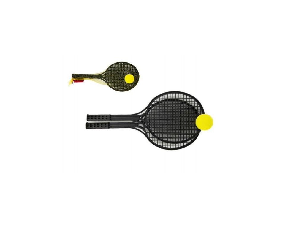 soft tenis plast cerny micek 53cm