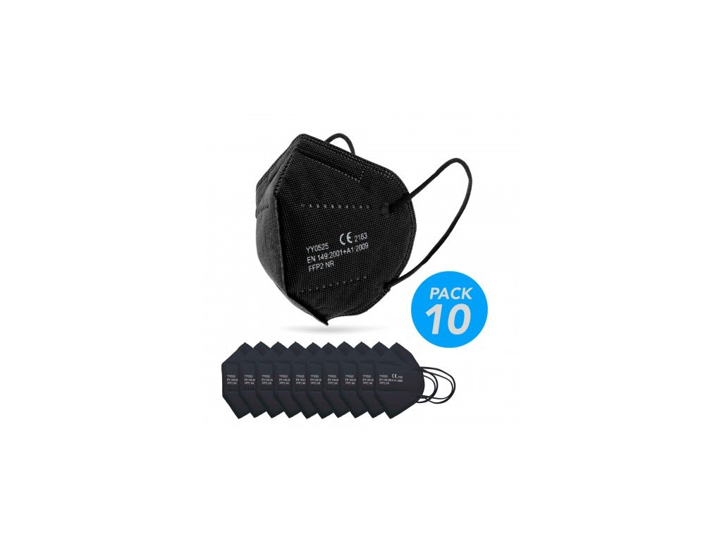 ywsh ffp2 cerny respirator 10 ks