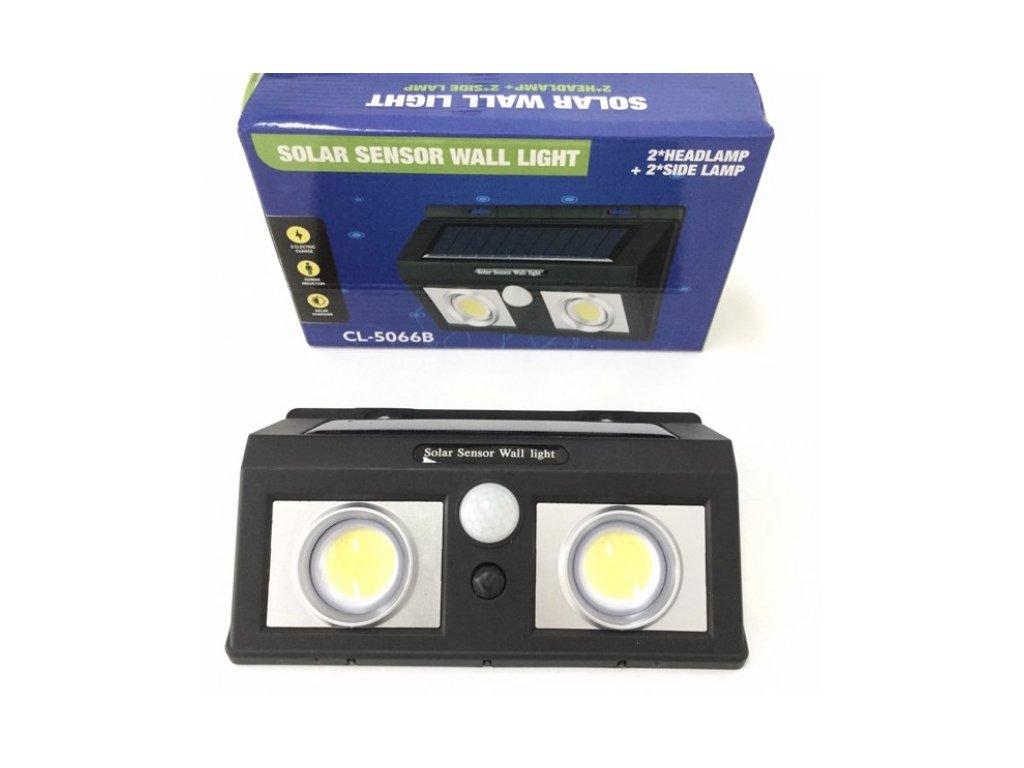 Solární pohybové nástěnné LED světlo