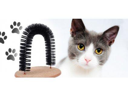 Masážní kartáč pro kočky - i ta vaše ho bude milovat!