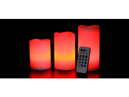 Romantika s Luma Candles – 3x LED svíčka s ovladačem a volbou barev