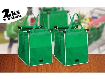 Skládací taška do nákupního vozíku - 2ks v balení