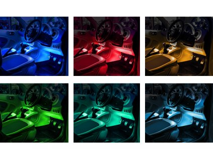 LED osvětlení do interiéru auta5