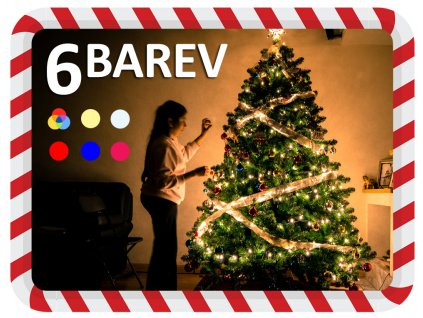 vanocni svetylka na stromek 6 barev