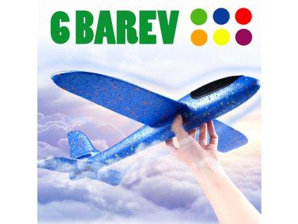 hazeci polystyrenove letadlo velke 6 barev