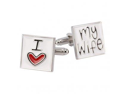 manzetove knoflicky i love my wife 1
