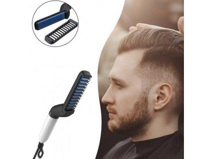 Multifunkční žehlička pro muže na vlasy a vousy