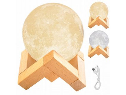 Měsíční noční lampa 3D