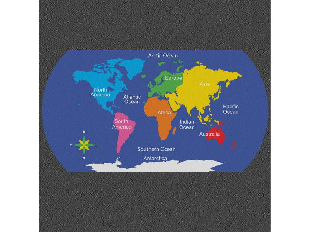 TME017 WMCF World Map Multicoloured Solid