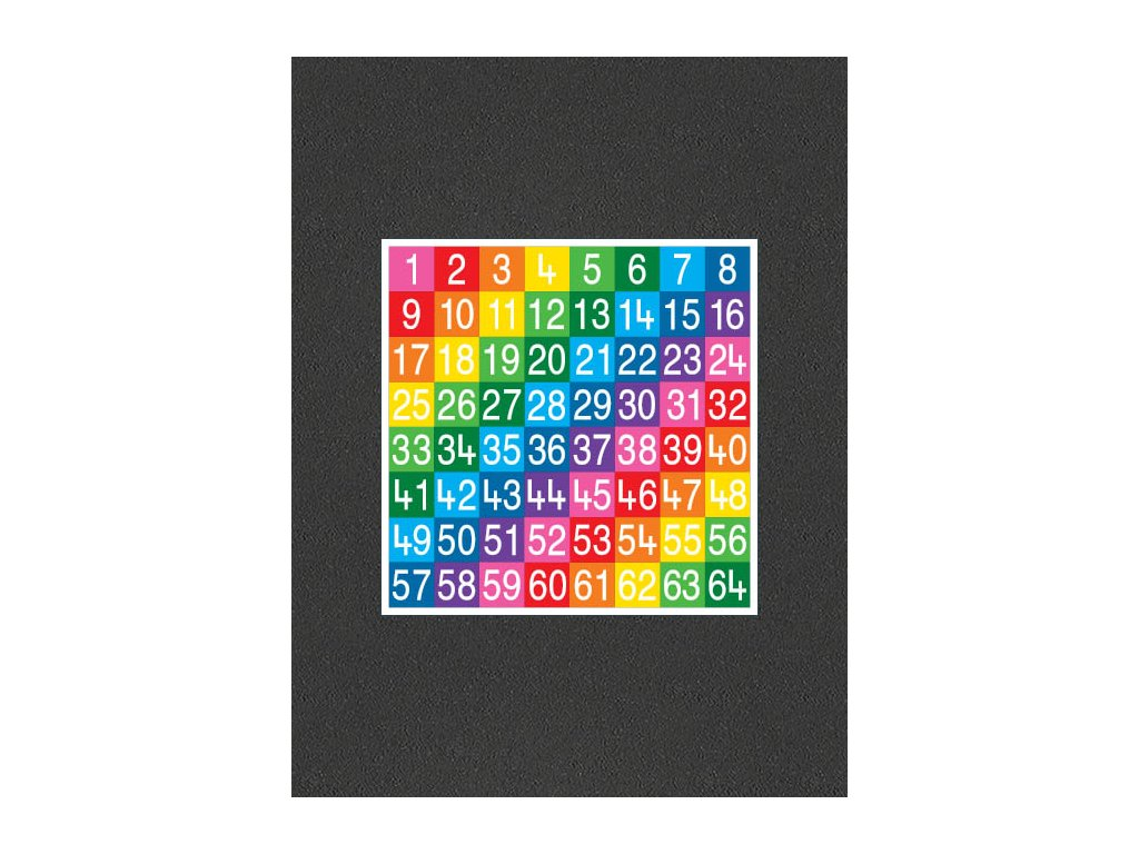 TME008 64SF Number Grid 1 64 Full Solid