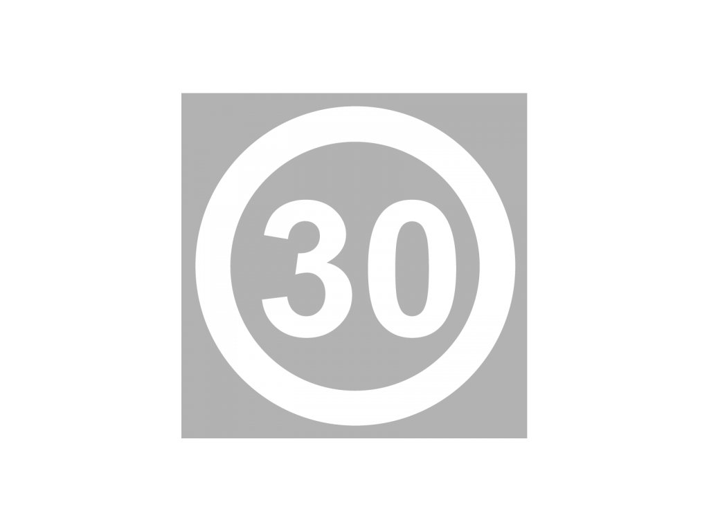 30mph speed roundel white product 0