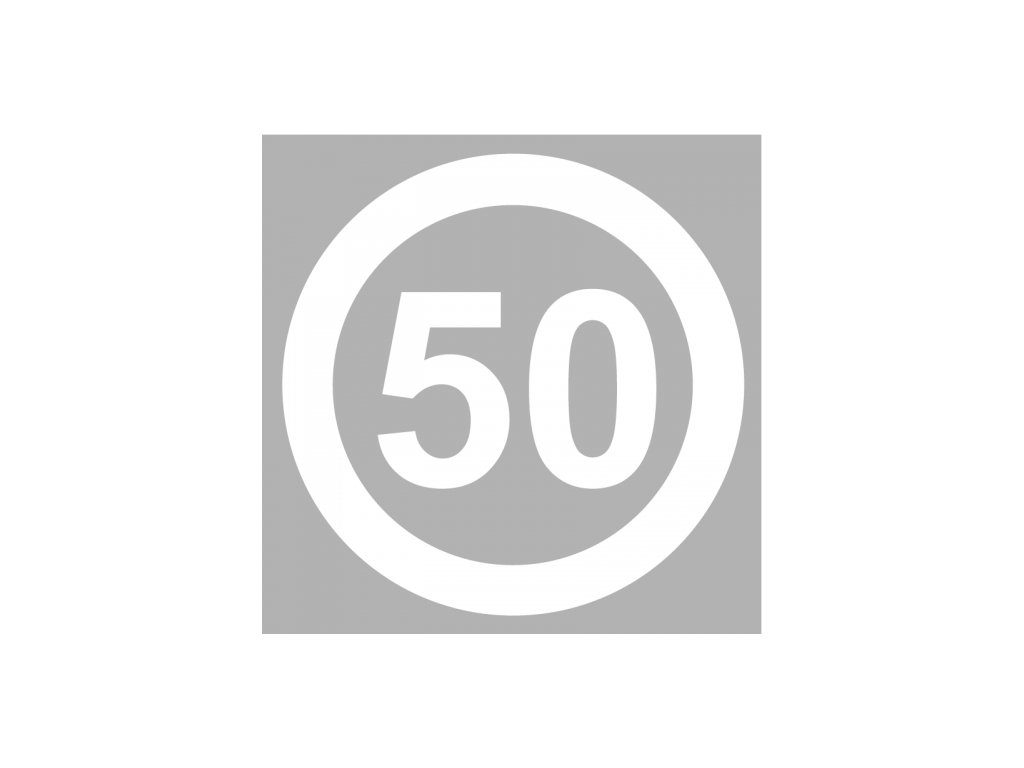 50mph speed roundel white product 0