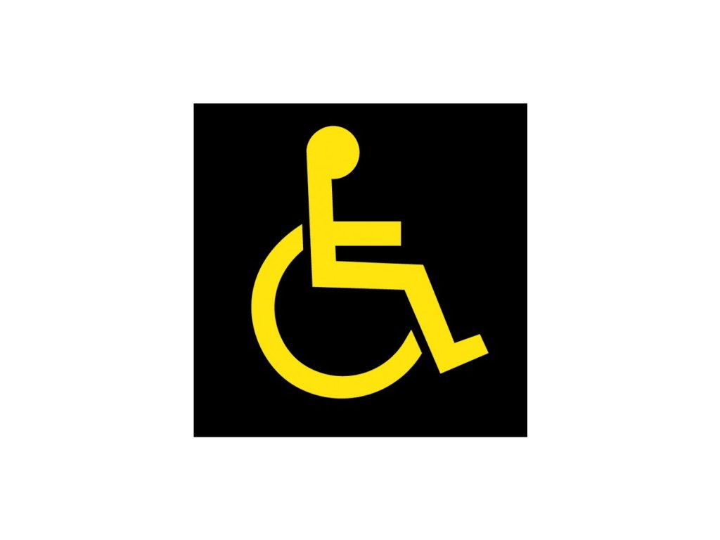 disabled symbol yellow product 0