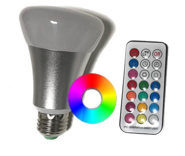 RGB a RGBW LED žárovky