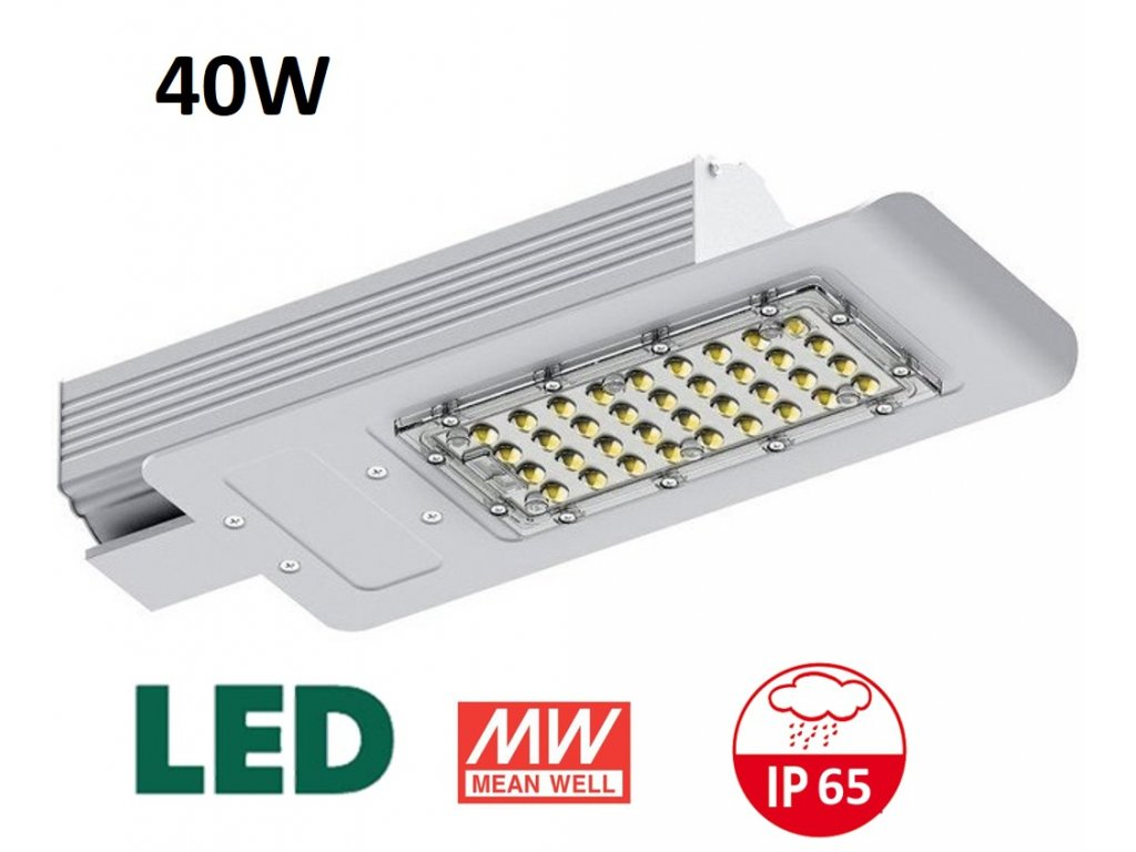 LED veřejné osvětlení mean well 40W maxlumen.cz záruka 5 let