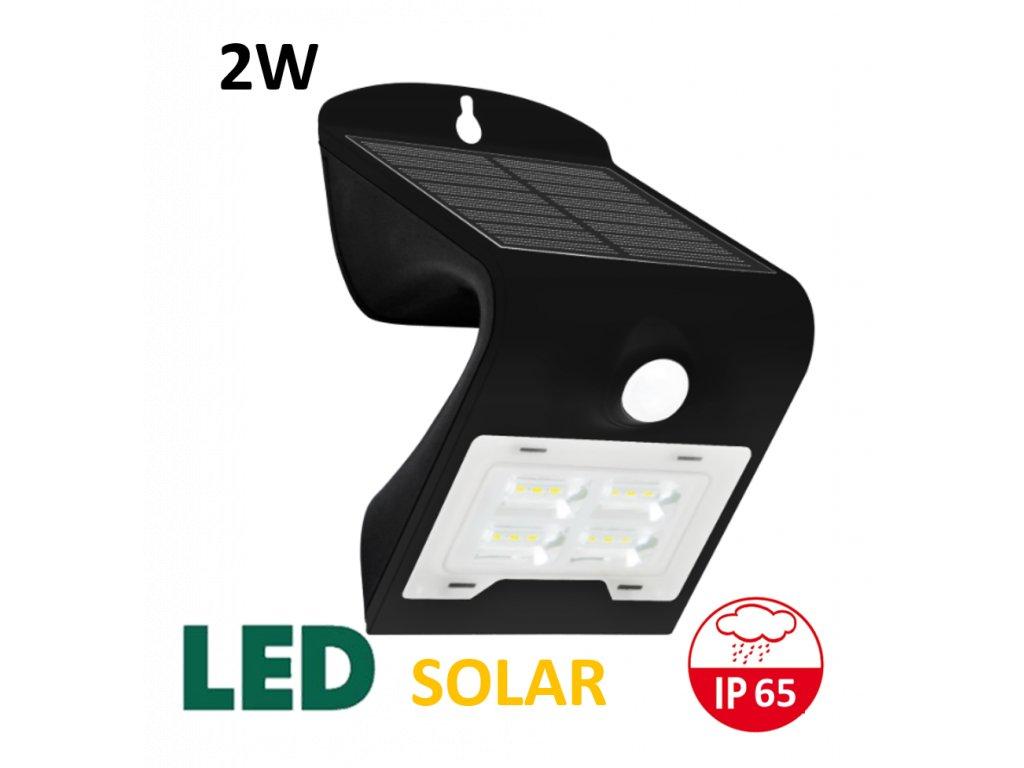 solarni led osvetleni reflektor 2W cerny maxlumen.cz