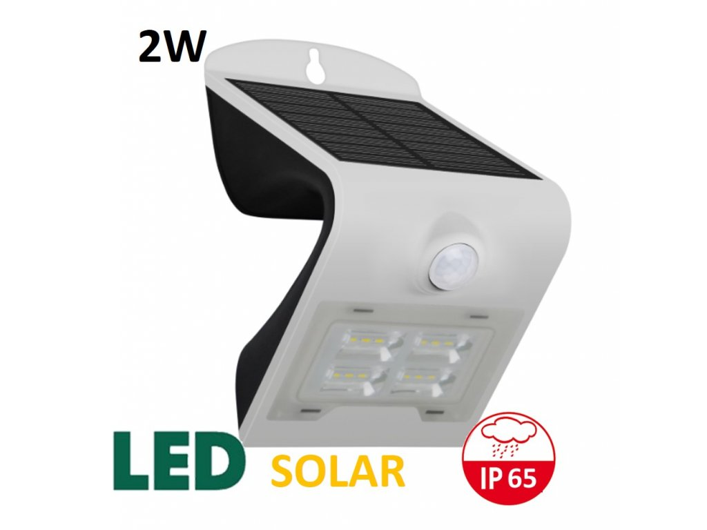 venkovní solarni led osvetleni reflektor 2W bily maxlumen.cz