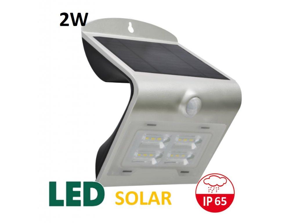 venkovni solarni osvetleni reflektor 2W stribrny maxlumen