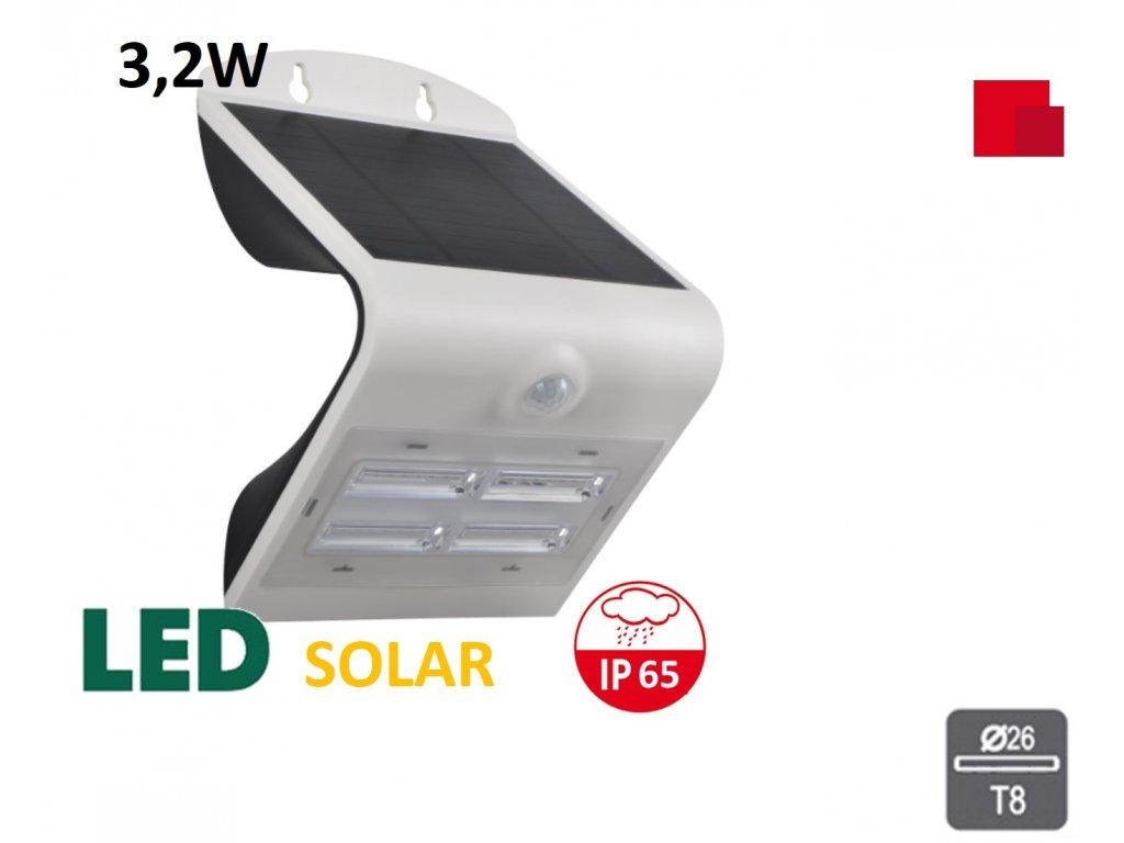 venkovni led solarni reflektor 3,2W bílý maxlumen