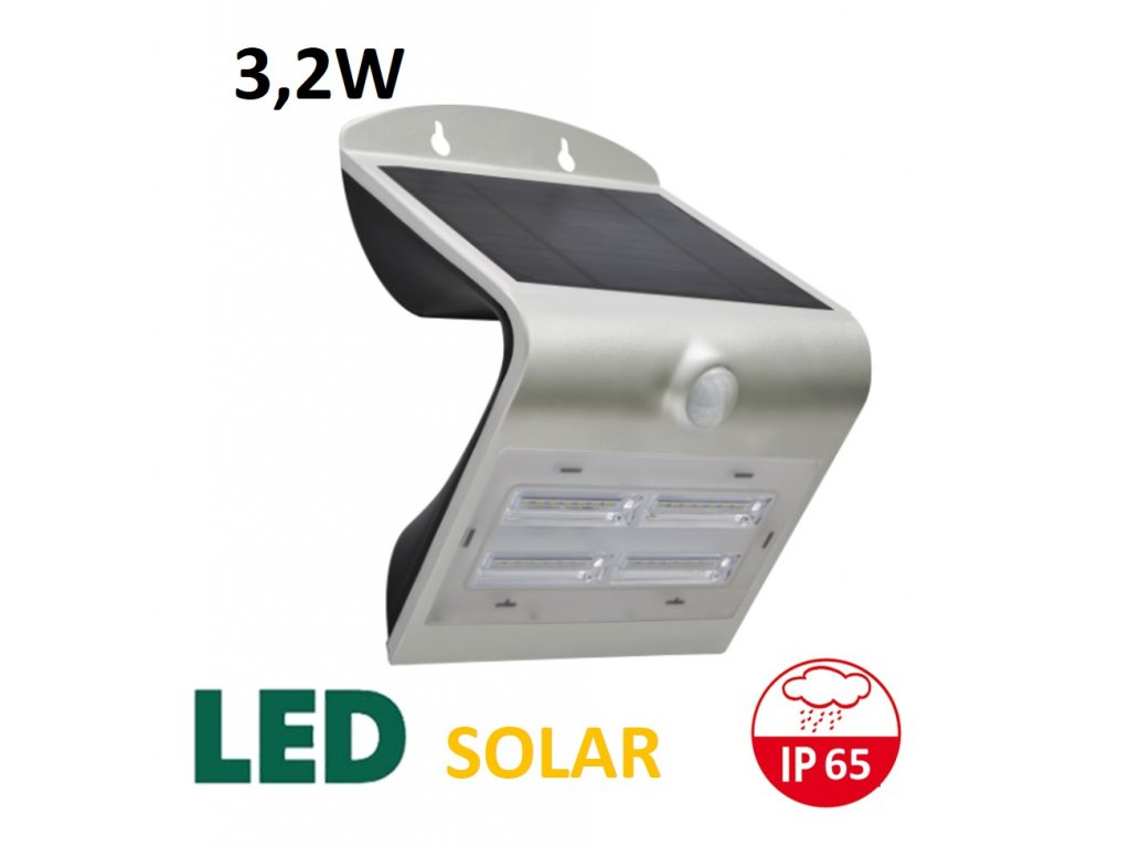 led solarni reflektor 3,2W stríbrny maxlumen.cz