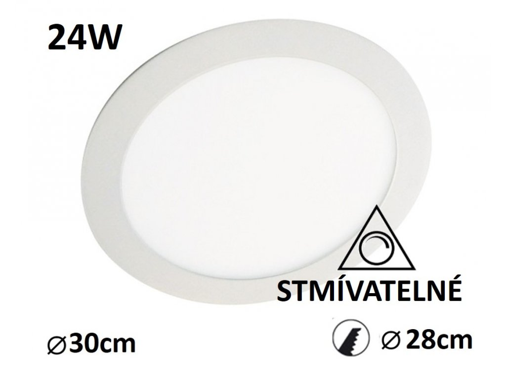 led panel stmivatelny kruh 24w
