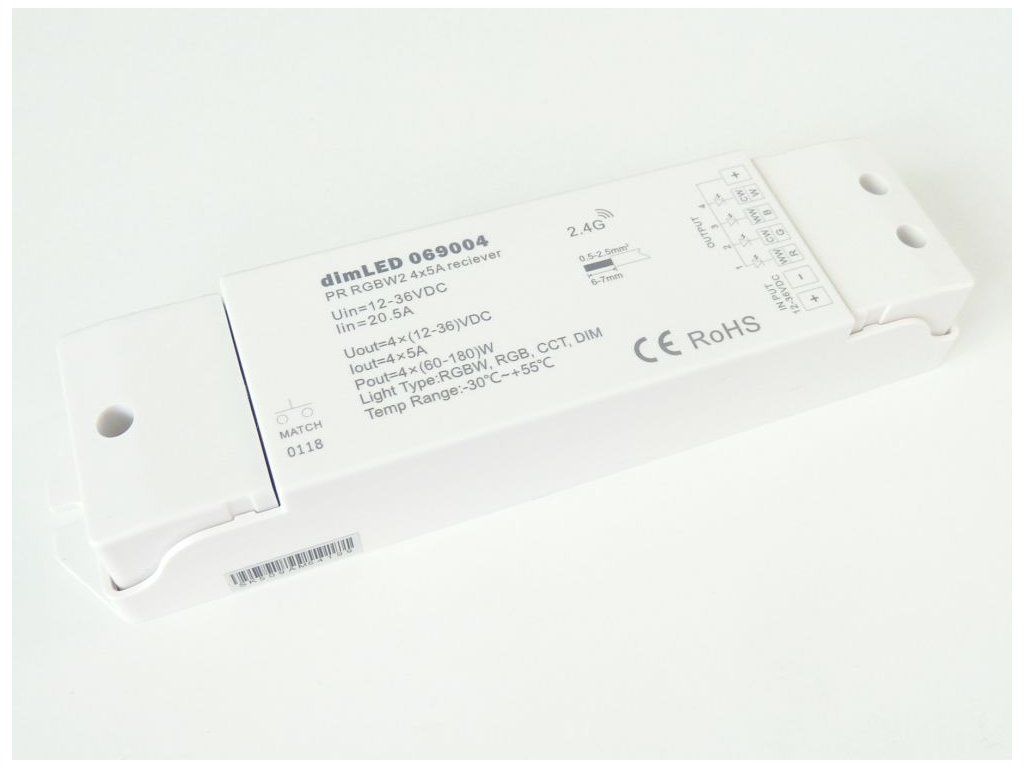 Přijímač dimLED PR RGBW2