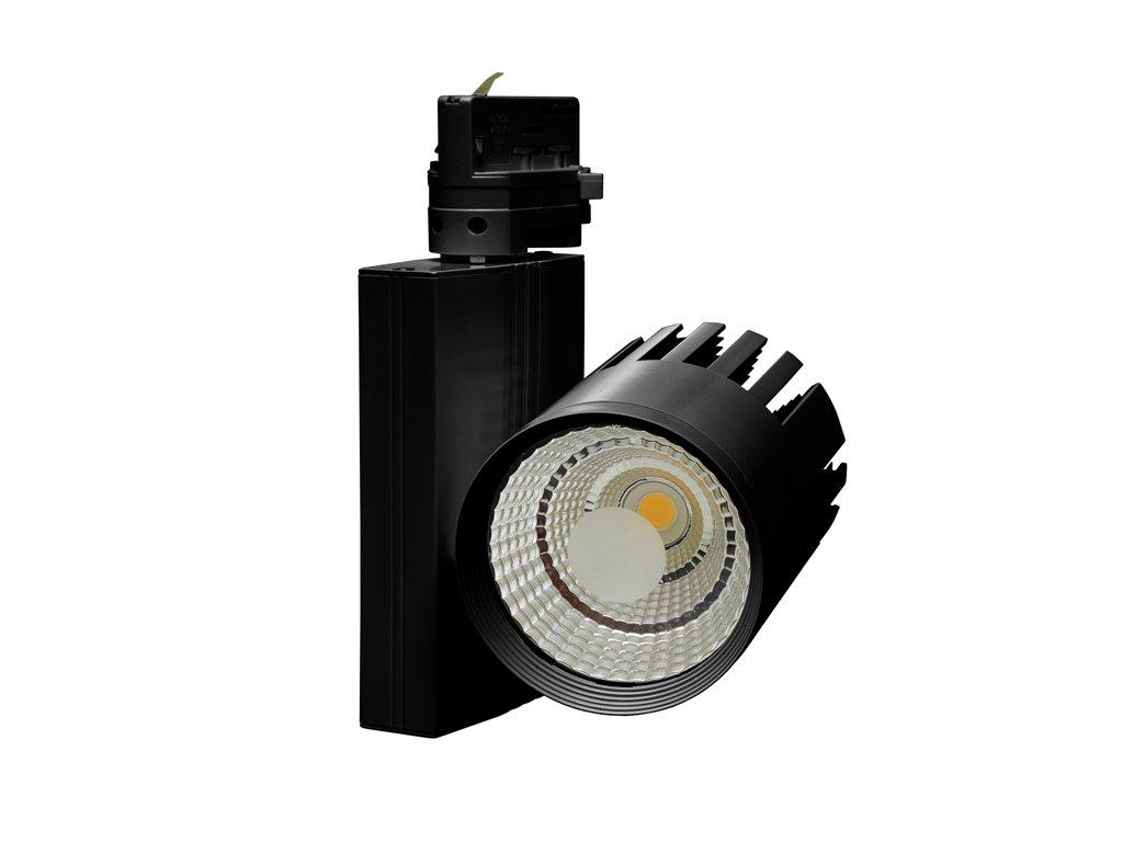 Svítidlo na lištový syst. (3f),COB,40W,4100K,černá