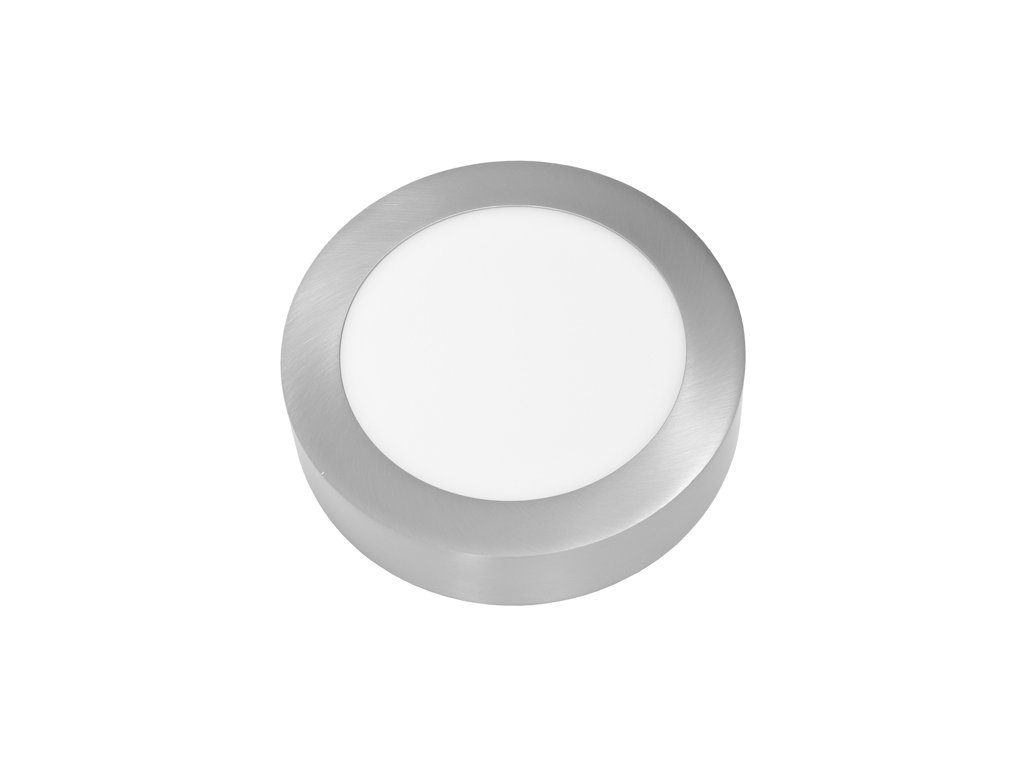 LED PANEL ECOLITE CHROM LADA2 12W Denní Bílá KRUH PŘISAZENÝ LED-CSL-12W/41/CHR