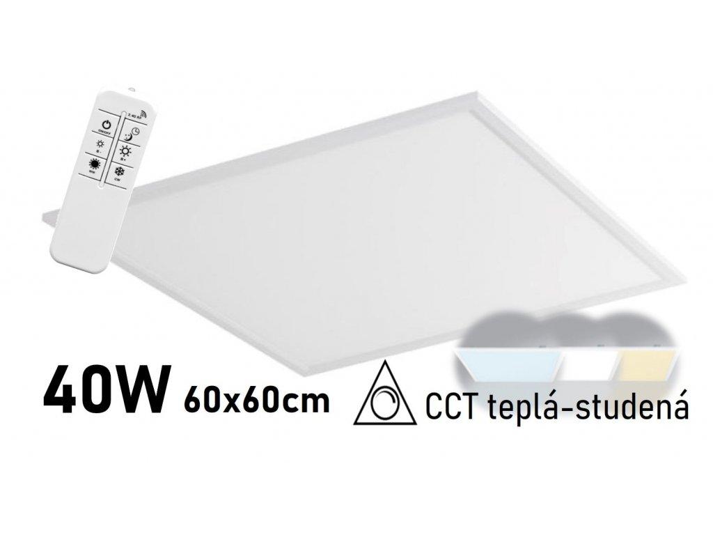 stmivatelny led panel cct 60x60 zeus LED GPL44 40 BI CCT