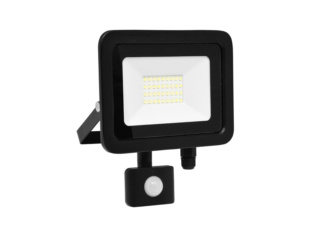 LED reflektor vč. PIR,30W,5000K,IP65,2400Lm