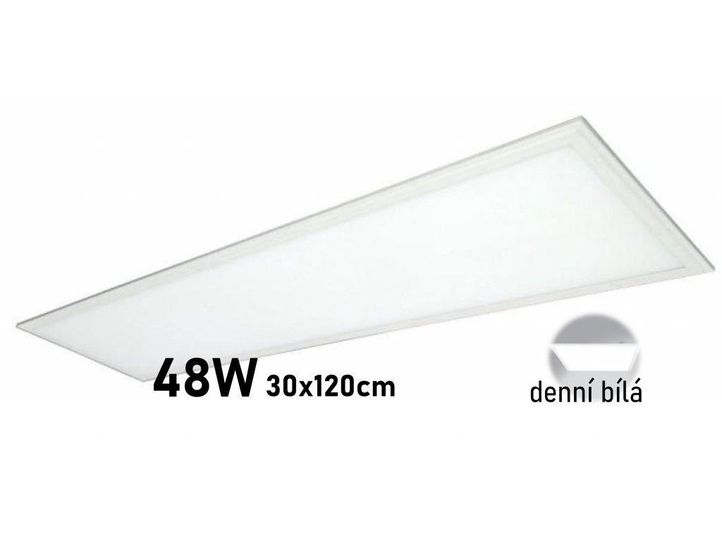 levny kvalitni led panel 30x120 cm denni bila