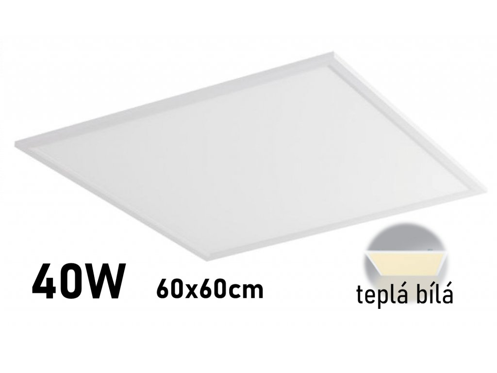 kvalitni led panel 60x60 cm levny 3000k