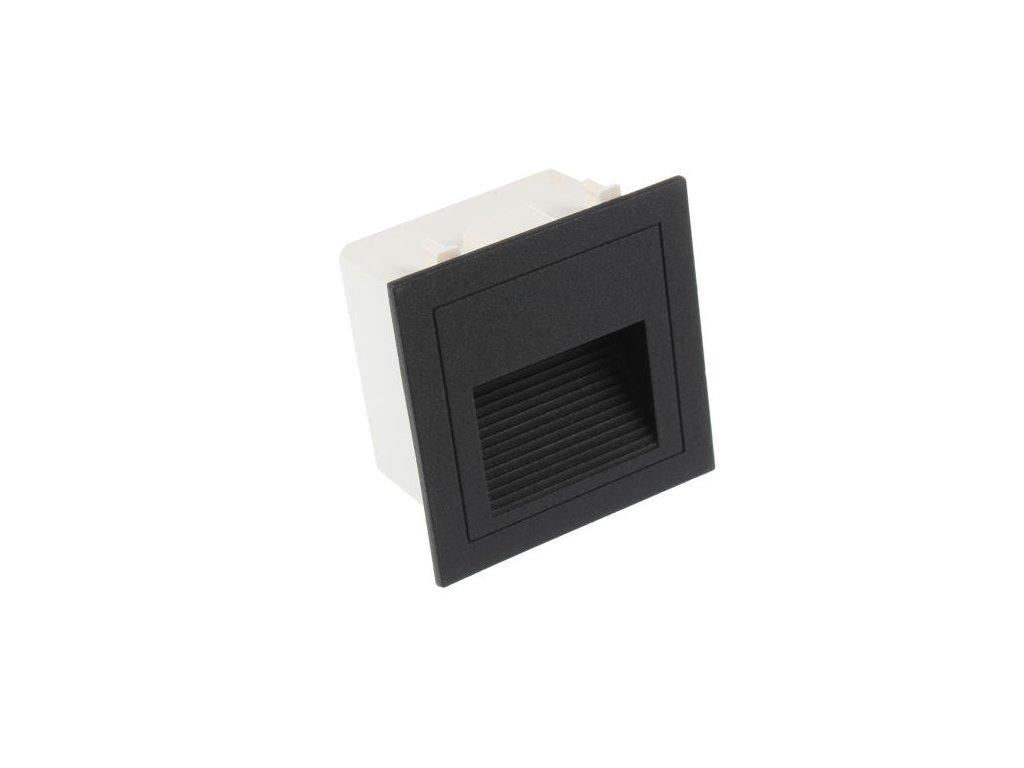 LED vestavné svítidlo LOPEN-B-IP65 černé DENNÍ BÍLÁ