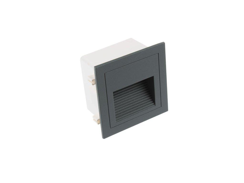 LED vestavné svítidlo LOPEN-G-IP65 šedé TEPLÁ BÍLÁ