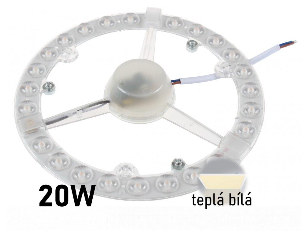 led nahrada za zarovku led modul 20W tepla bila