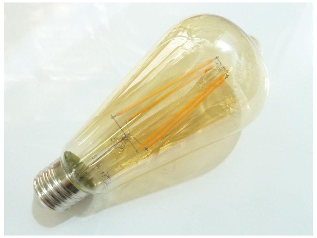 LED žárovka E27 EDF4W ST64 FILAMENT oválná TEPLÁ BÍLÁ