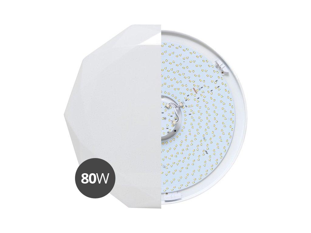 LED stropní svítidlo DIAMANT CCT s ovladačem plynulá REGULACE BARVY světla 80W WZSD-80/80W/LED