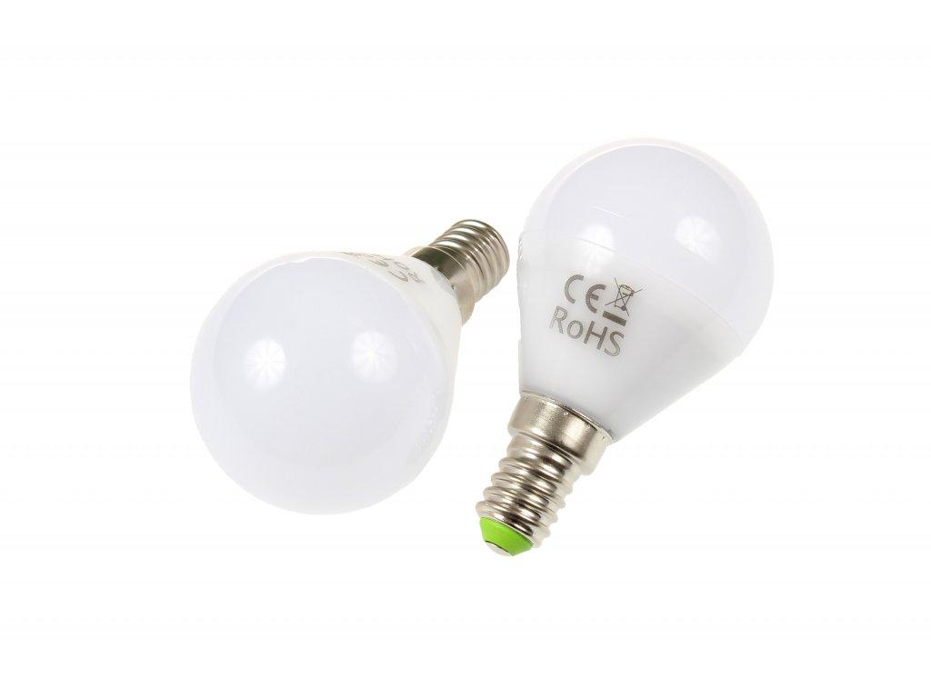 LED žárovka E14 LU5W 260° STUDENÁ BÍLÁ