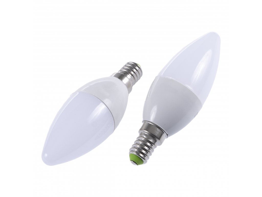 LED žárovka E14 EV5W svíčka TEPLÁ BÍLÁ