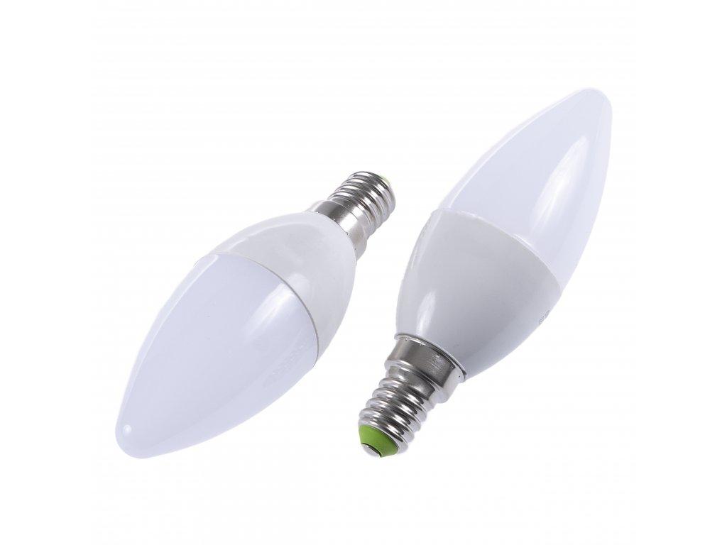 LED žárovka E14 EV5W svíčka STUDENÁ BÍLÁ