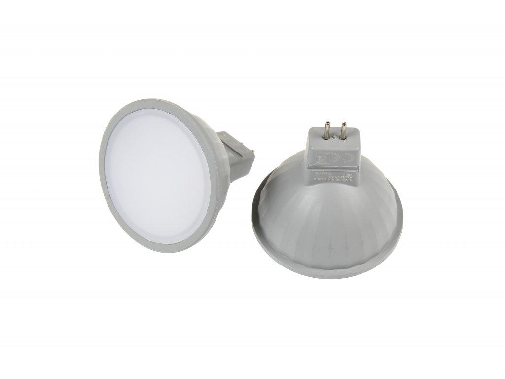 LED žárovka MR16 EL3W STUDENÁ BÍLÁ