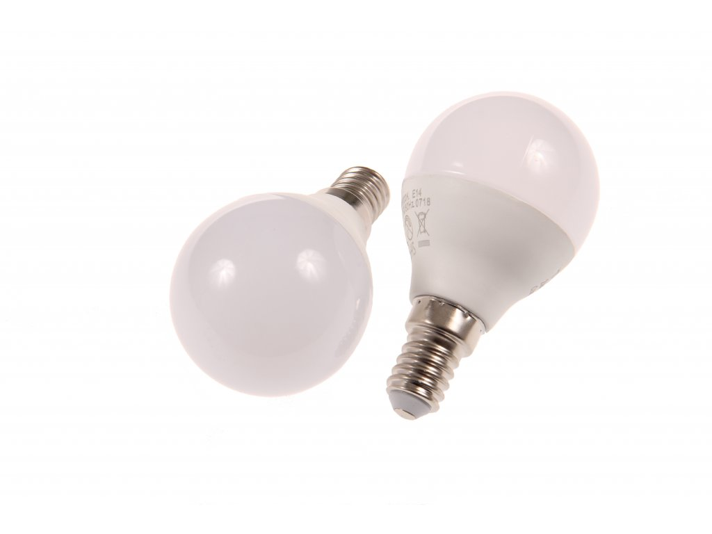 LED žárovka E14 MKG45 6W DENNÍ BÍLÁ
