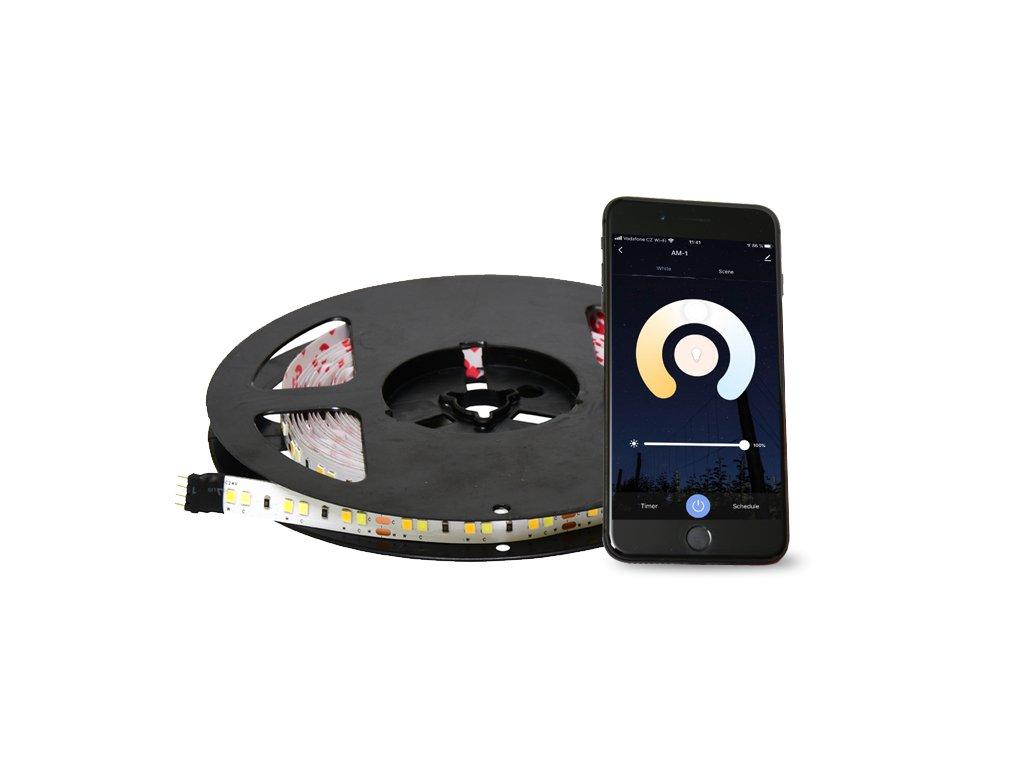 set CCT LED pásku7,3W/m 5m IOS Android 3000-6000K DX-SMD2835-BI/5M/TUYA