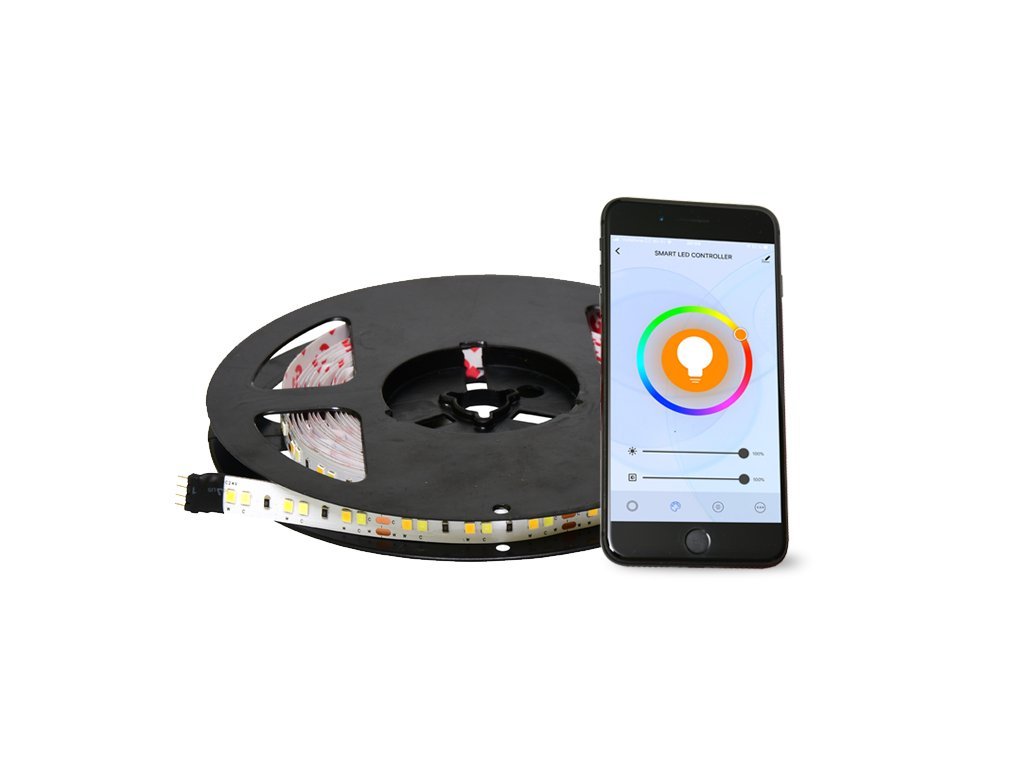 set RGB LED pásku 9,6W/m 5m IOS Android set RGB DX-SMD5050-RGBW/5M/TUYA