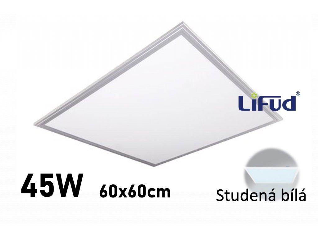 LED panel 60x60 cm studena stribrny LED GPL44 45 6000
