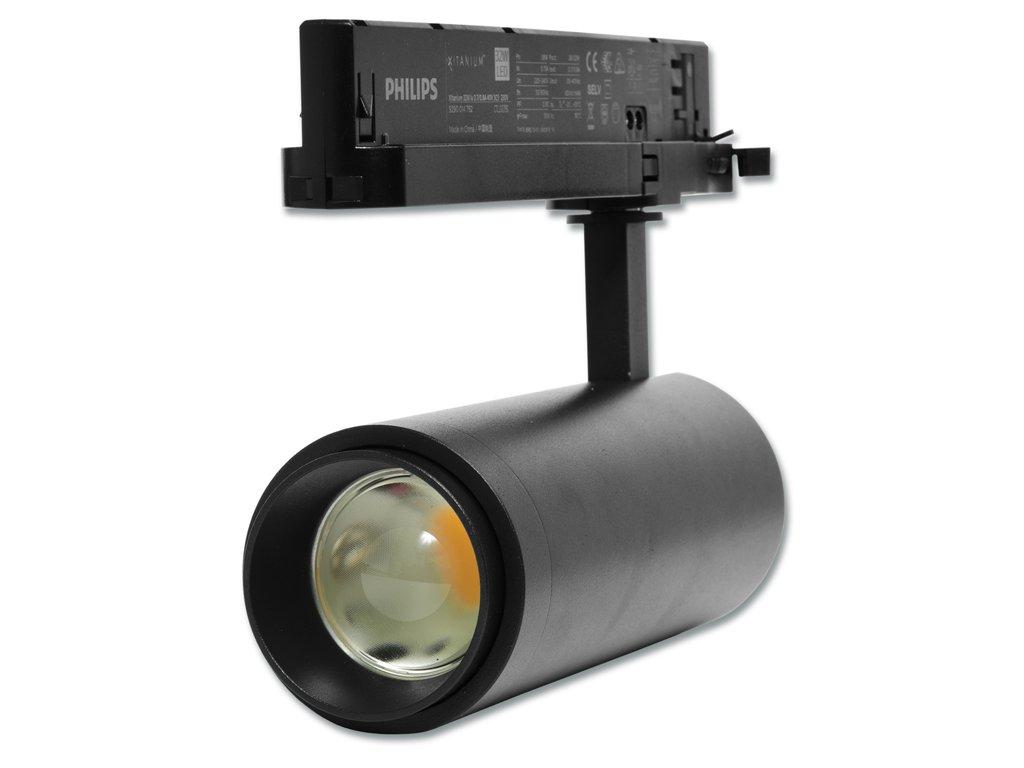 LED lištový reflektor 30w 3F 15° - 60° DENNÍ BÍLÁ ČERNÝ