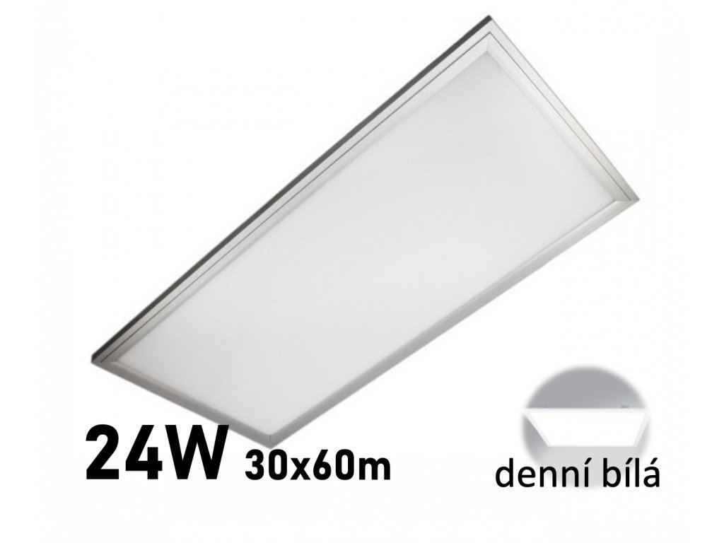 led panel 30x60 24W zeus stribrny
