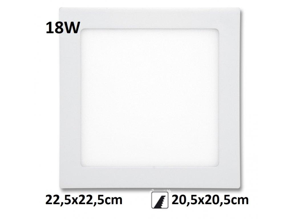 LED PANEL 18W rafa maxlumen.cz praha bily downlight
