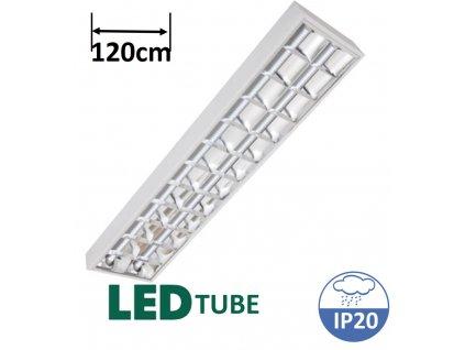 greenlux ORI LED 2xT8 120cm svítidlo s mřížkou pro 2 LED trubice maxlumen.cz